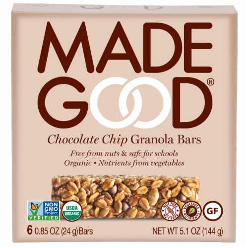 Made Good® Organic Chocolate Chip Granola Bars Perspective: front
