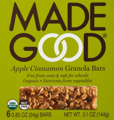 MadeGood Apple Cinnamon Granola Bars Perspective: front