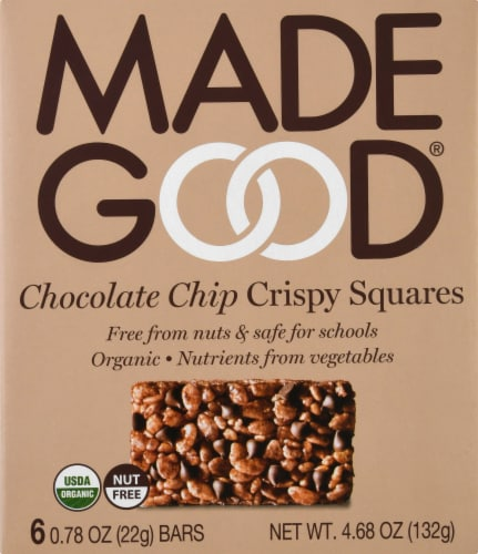MadeGood Chocolate Chip Crispy Squares Perspective: front