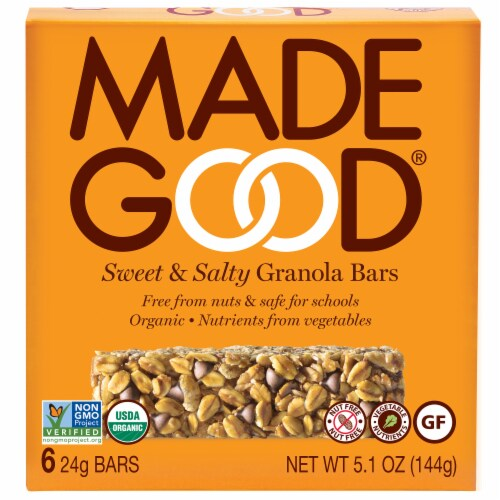 MadeGood Sweet & Salty Granola Bars Perspective: front