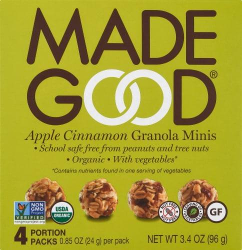 MadeGood Apple Cinnamon Granola Minis Perspective: front