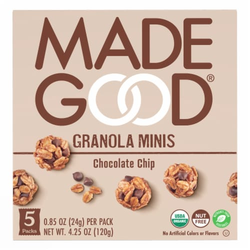 MadeGood Chocolate Chip Granola Minis Perspective: front