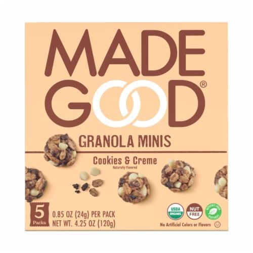 MadeGood Cookies & Creme Granola Minis Perspective: front