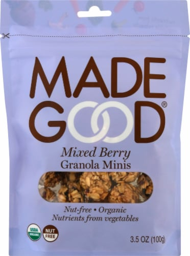MadeGood Mixed Berry Granola Minis Perspective: front
