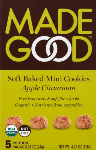 MadeGood Apple Cinnamon Cookies 5 Count Perspective: front