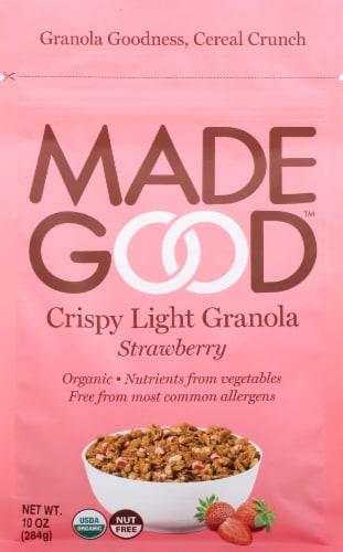 MadeGood Strawberry Crispy Light Granola Perspective: front