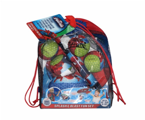 Spiderman Splash & Blast Backpack Fun Set Perspective: front