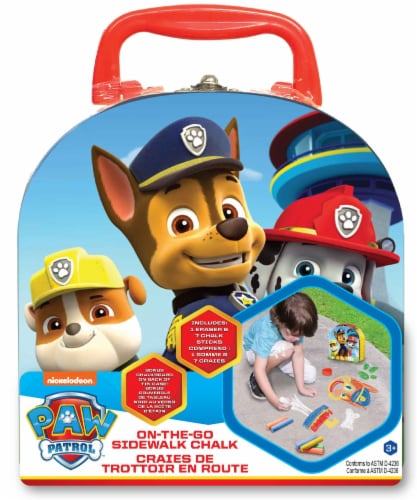 What Kids Want Paw Patrol On-The-Go Sidewalk Chalk Case Perspective: front