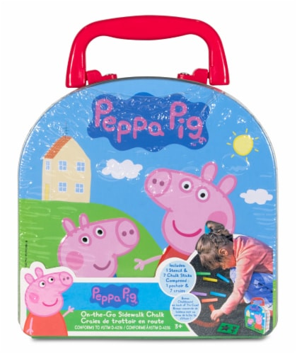 Peppa Pig On-the-Go Sidewalk Chalk in a Case Perspective: front