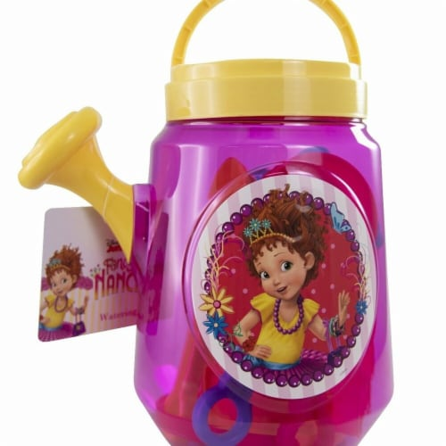 DDI 2341234 Fancy Nancy Clear Beach Watering Can with a Flower Spout - Case of 48 Perspective: front