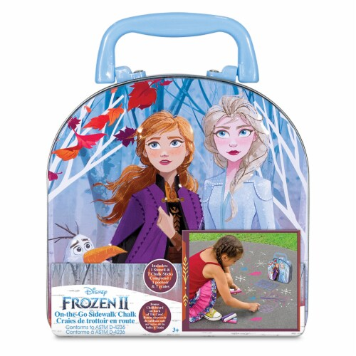 What Kids Want Frozen 2 On-The-Go Sidewalk Chalk Case Perspective: front
