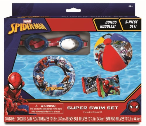 Marvel Spiderman Inflatable Swim Set 5 Pack Perspective: front