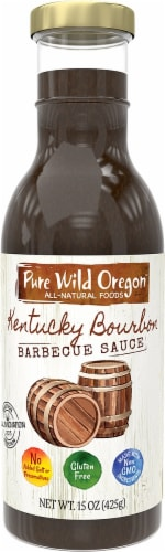 Pure Wild Oregon Kentucky Bourbon BBQ Sauce Perspective: front