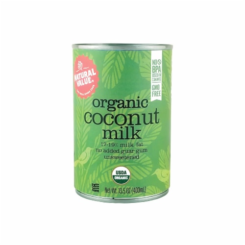 Natural Value Organic Coconut Milk, 13.5-Ounce Cans/  6-ct. Pack Perspective: front