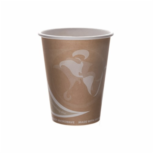 Eco-Products 8 oz. Evolution World Recycled-Fiber Compostable Hot Cup / 1,000-ct. case Perspective: front