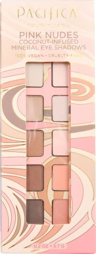 Pacifica Pink Nudes Mineral Eye Shadow Palette Perspective: front