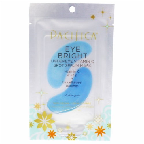 Eye Bright Undereye Vitamin C Spot Serum Mask by Pacifica for Unisex - 0.23 oz Mask Perspective: front