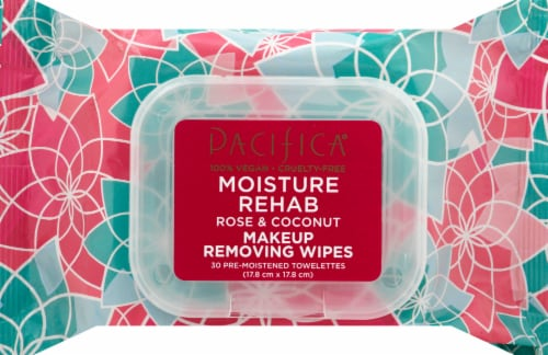 Pacifica Moisture Rehab Makeup Removing Wipes Perspective: front
