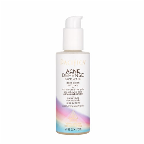 Acne Defense Face Wash by Pacifica for Unisex - 5.8 oz Cleanser Perspective: front