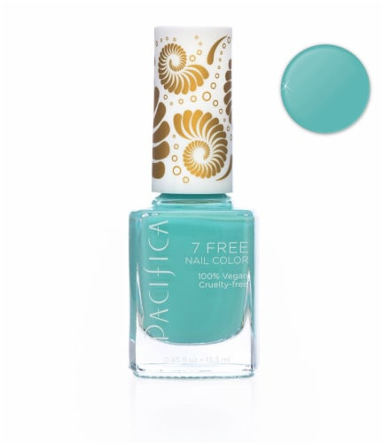 Pacifica  7 Free Turquoise Tiara Nail Color Perspective: front