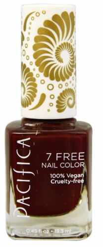 Pacifica  7 Free Red Red Wine Nail Color Perspective: front