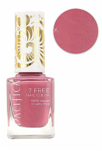 Pacifica 7 Free Rose Gold Nail Polish Perspective: front