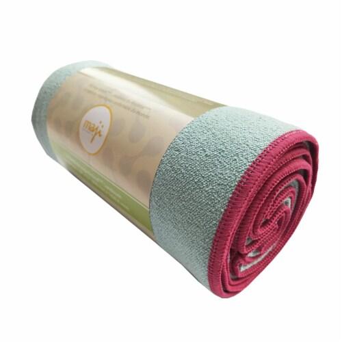 Noskid Sandwash Yoga Towel (Light Blue) Perspective: front