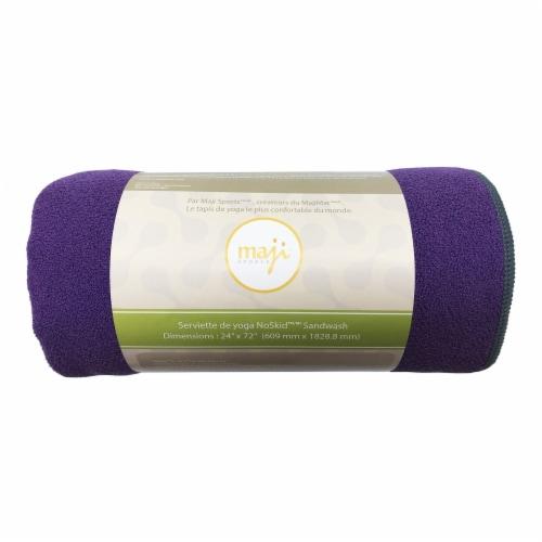 Noskid Sandwash Yoga Towel (Purple) Perspective: front