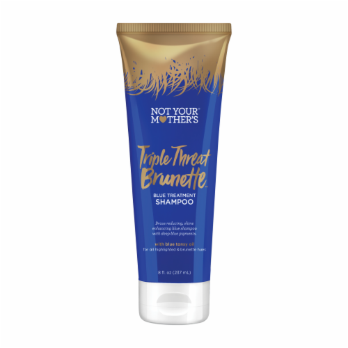 Not Your Mother's Triple Threat Brunette Blue Treatment Shampoo Perspective: front