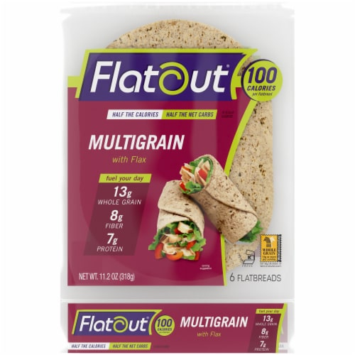 Flatout Multigrain with Flax Flatbread 6 Count Perspective: front