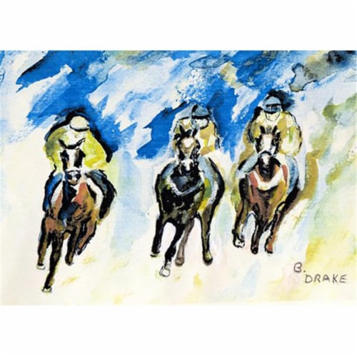 Betsy Drake PM320 Three Racing Place Mat - Set of 4 Perspective: front