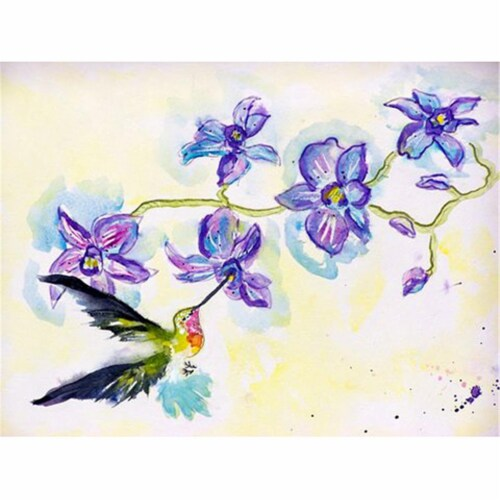 Betsy Drake PM944 Hummingbird & Clematis Place Mat - Set of 4 Perspective: front