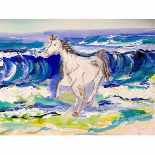 Betsy Drake PM957 Horse & Surf Place Mat - Set of 4 Perspective: front
