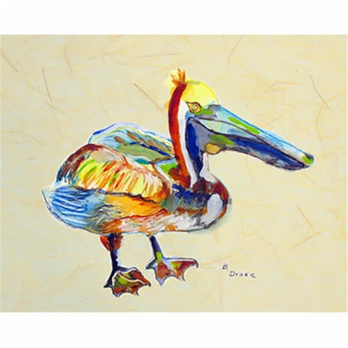 Betsy Drake PM983B Heathcliff Pelican B Place Mat - Set of 4 Perspective: front