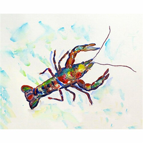 Betsy Drake PM986A Crayfish A Place Mat - Set of 4 Perspective: front