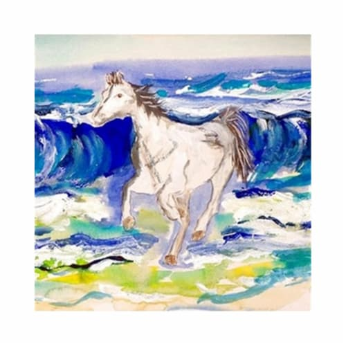 Betsy Drake DM957G 30 x 50 in. Horse & Surf Door Mat Perspective: front