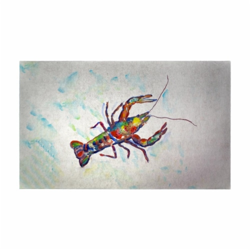 Betsy Drake DM986AG 30 x 50 in. Crayfish a Door Mat Perspective: front
