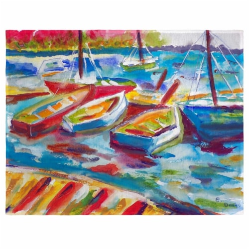 Betsy Drake PM423 Betsys Marina II Place Mat - Set of 4 Perspective: front