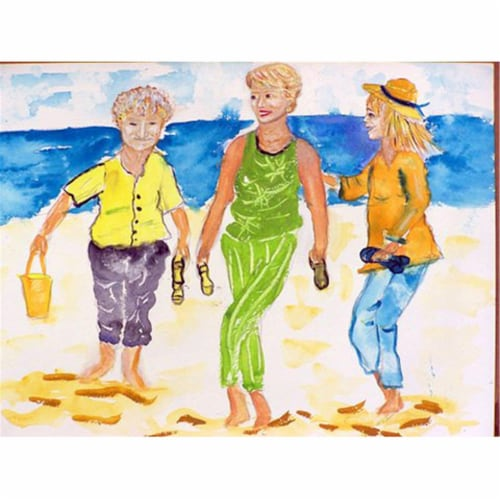 Betsy Drake PM415 Grandma At the Beach Place Mat - Set of 4 Perspective: front