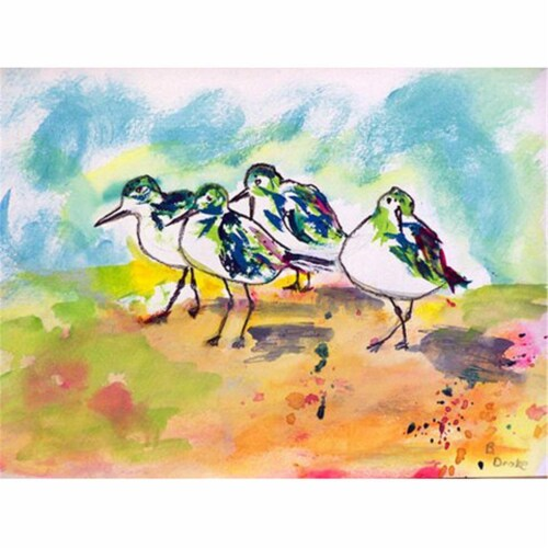 Betsy Drake PM417 Sanderlings Place Mat - Set of 4 Perspective: front