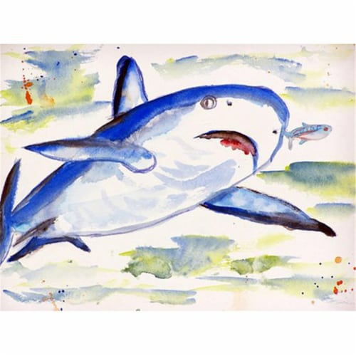 Betsy Drake PM213 Shark Place Mat - Set of 4 Perspective: front
