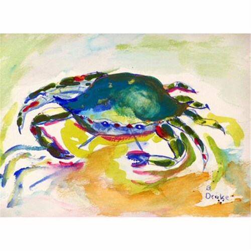 Betsy Drake PM263 Green Crab Place Mat - Set of 4 Perspective: front