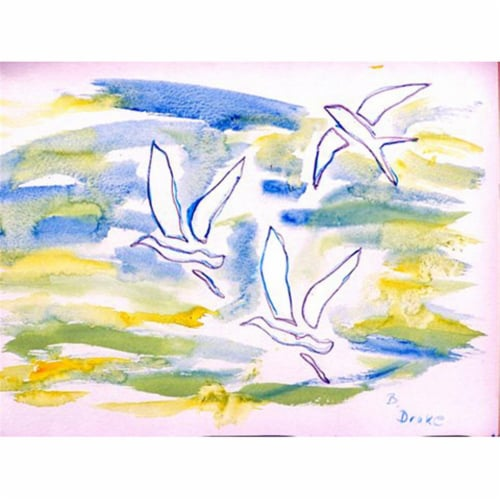 Betsy Drake PM941 Three Gulls Place Mat - Set of 4 Perspective: front