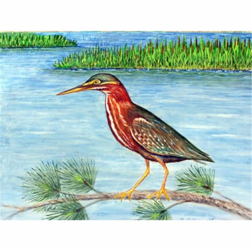 Betsy Drake PM958 Green Heron II Place Mat - Set of 4 Perspective: front