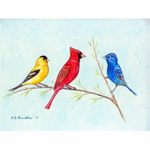 Betsy Drake PM298 Three Birds Place Mat - Set of 4 Perspective: front