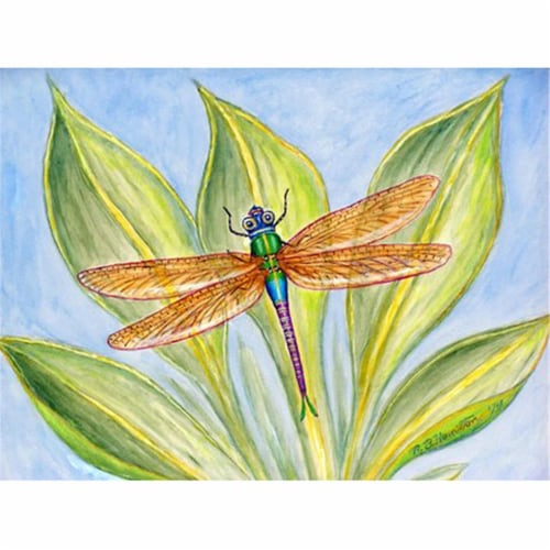 Betsy Drake PM299 Dicks Dragonfly Place Mat - Set of 4 Perspective: front