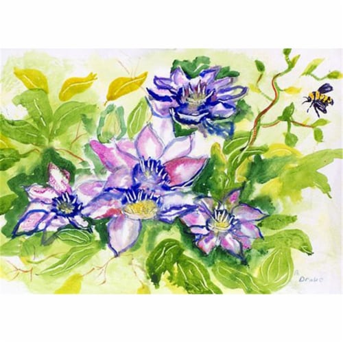 Betsy Drake PM284 Clematis Place Mat - Set of 4 Perspective: front