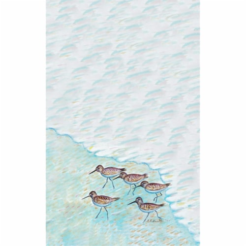 Betsy Drake KT269 Sandpipers Kitchen Towel Perspective: front