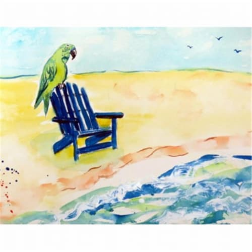 Betsy Drake DM398G Parrot & Chair Door Mat, Large Perspective: front