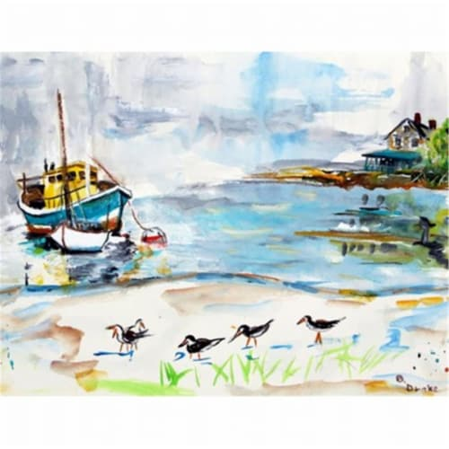 Betsy Drake DM445G Boats & Sandpipers Door Mat, Large Perspective: front